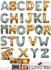 """14"""" Gold & Sliver A~Z Letter Birthday Party Decoration Foil Balloon Helium OK"""