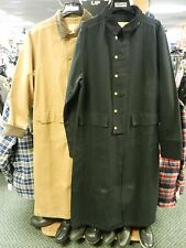 Scully Canvas Duster Jacket Coat Metal Button Up Corduroy Collar/Cuffs Leg Strap