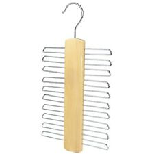 20 Bar Wooden Tie Hanger, Coat Scarfs & Belt Rack Mens Organiser