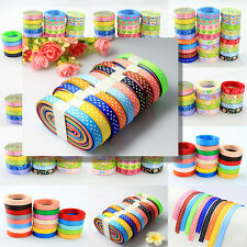 "Mixed style 3/8"" sewing craft satin grosgrain ribbon lot 12 sets you choose"