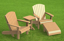 Wooden Lawn Chair with footrest and Table Building Plans 002  - Easy to Build