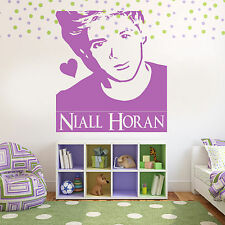 Niall Horan One Directon 1D Wall Sticker Art Decorate Transfer Girls Stencil J6