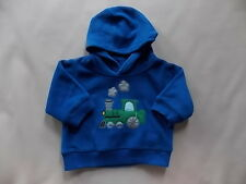 NWT Boy's Gymboree North Pole Express train hoodie sweatshirt ~ 3 6 12 24 months