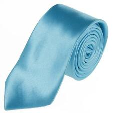 30 Colors New Mens Slim Skinny Solid Color Plain Satin Tie Narrow Necktie TSR