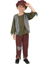POOR PEASANT BOY FANCY DRESS COSTUME KIDS VICTORIAN OLIVER TWIST OUTFIT TUDOR