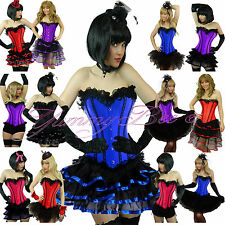 Burlesque Corset Tutu Skirt Fancy Dress Costume Plus Size 6-24 Halloween Outfit