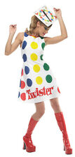 TWISTER ADULT WOMENS COSTUME Spinner Games Multicolor Theme Sexy Halloween Party