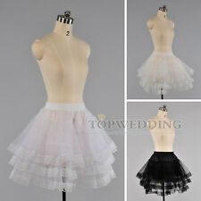 Hoopless 3 Layers Voile Lace Bridal Petticoat Wedding Gown Crinoline Skirt Slip