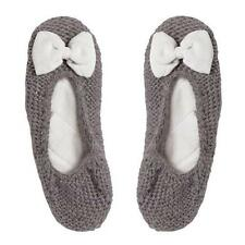 Lisbeth Dahl Strick-Ballerinas BOW grey/cream