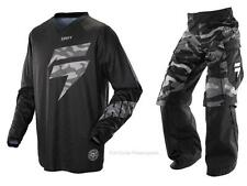Shift MX Recon Veteran Black Camo Pant & Jersey Motocross ATV Over The Boot