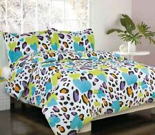 Teen Girls Bedding 4pc 0r 5pc- Cammi- Pink Or Blue Multi Color Bedding Free Ship