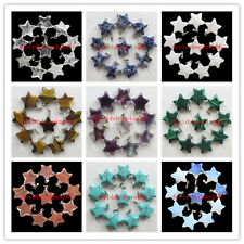 X-1 Beautiful 10pcs Beautiful Carved mixed stone Star pendant bead