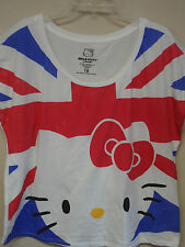 Hello Kitty Plus Size White ( Kitty Cute Face with Red, White, & Blue) T-shirt