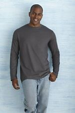 Mens Gildan Soft Style Long Sleeve Cotton T-Shirt, 8 Colours Available