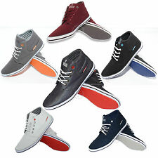 BNWT MENS TWISTED FAITH TRAINERS HIGH TOP SHOES PUMPS ANKLE LACE UP CANVAS P76