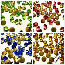 SS36 (7.6mm) Point back Rhinestones Crystal Glass Chatons Strass Colors 144ps