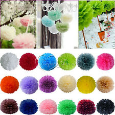 "10 Tissue Paper Pom Poms Flower Ball Wedding Party Holiday Decoration 8""/10""/15"""