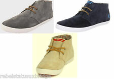 FRED PERRY Shoes Unisex Mid Trainer B2189 Byron Suede Navy,Sand,Grey UK 6 - 11