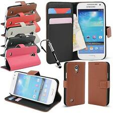 Premium PU Leather Credit Card Wallet Flip Case For Samsung I9190 Galaxy S4 MINI