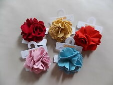 NWT Girl's Gymboree flower ponytail holders ~ one size