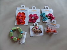 NWT Girl's Gymboree Woodland Friends deer squirrel hair barrettes clips bracelet
