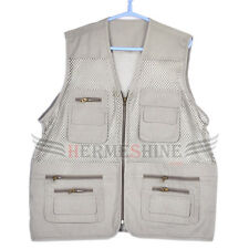 New Fishing photographer photo vest Off-white 3 size for Nikon Canon Sony Pentax