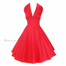 Maggie Tang 50s Marilyn VTG Pinup Rockabilly Costum Party Swing Dress S-504
