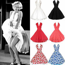 Maggie Tang 50s Marilyn VTG Pinup Rockabilly Halloween Cos Party Swing Dress 504
