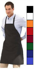 (2)* NEW BIB APRONS 12 CHOICES BLACK RED ORANGE GREEN BLUE APRONS CHEFS QUALITY