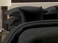 Sale-Complete Bedding Collection 1000TC Egyptian Cotton Black Stripe In All Size