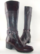 Oh! Michelle Women's Burgundy Leather Berlin Boots 60% Off! Size 6 7 8 10