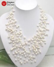 SALE White 6-7mm natural Freshwater Pearl Starriness 20 Strands Necklace-nec5058