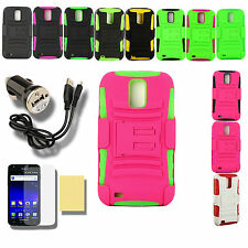 Silicone PC Case for Samsung Galaxy S II 2 BAA1 Black SGH-T989 X Cover Belt Clip
