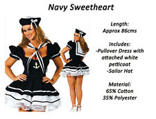 Navy Blue Sailor Girl Ladies Halloween Party Costume Outfit Fancy Dress
