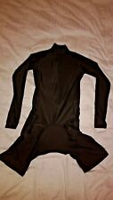 Black Cycling Skinsuit - Long Sleeved - No Logos - XS to XL