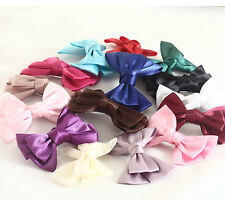 Handmade  Double Bow Dark Multicolor Vintage Ribbon 1 PC  Hair Clips Free Ship