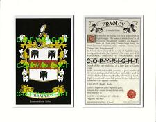 BRADLEY Family Coat of Arms Crest + History - Available Mounted or Framed