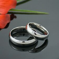 5MM HIGH POLISH STAINLESS STEEL HIS HERS MATCHING WEDDING BAND RING COMFORT FIT