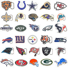 Cut Out NFL Team Logo Official Licensed Pewter Belt Buckle