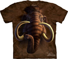 NEW MAMMOTH HEAD Extinct Mammal Woolly The Mountain T Shirt Adult Sizes