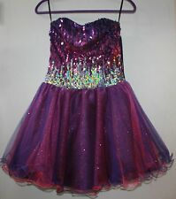 CW Designs Pageant or Bat Mitzvah Strapless purple Dress Preteen small $375 NWT
