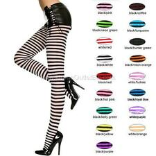 Sexy Opaque Striped Pantyhose Footed Tights Stockings Socks Hosiery Halloween