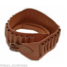 Cartuccera in cuoio singola calibro 12 20 28 e 36 cartridge belt single ww ship