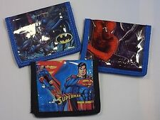 Boy's Super Hero Wallet - Spiderman, Batman, or Superman, Kids/Childrens/Childs