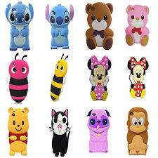 Kinds Animals 3D Cute Cartoon Silicon Soft Case For ipod touch 4 4th Gen Touch4