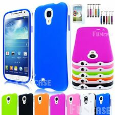Hybrid Rubber Rugged Combo Matte Case Hard Cover For Samsung Galaxy S IV 4 i9500