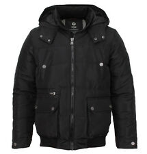 Jack & Jones Wade Mens Designer Hooded Jacket Black