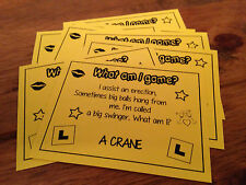 HEN PARTY GAMES What Am I Innuendo Cards Drinking Games Yellow