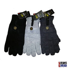 Crosshatch Truth Series Mens Knitted Winter Gloves Black/Charcoal/Grey Marl BNWT