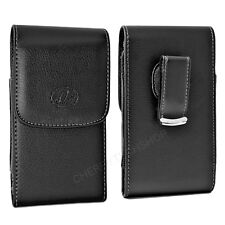Vertical Leather Clip Case for Cell Phones COMPATIBLE WITH Otterbox Defender
